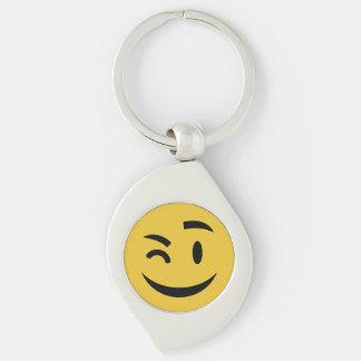 Cute winking at you emoji keychain