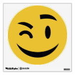 Cute winking at you emoji wall decal