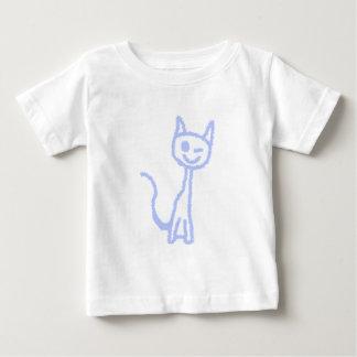 Cute winking cat. Blue. Tee Shirts