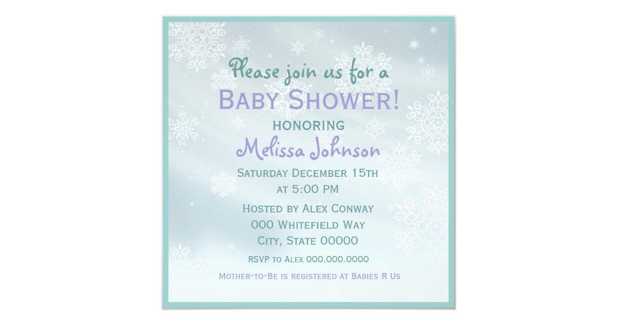 cute winter baby shower invitations zazzle