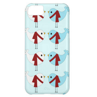 Cute Winter Love Birds iPhone 5 Case