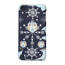 Cute winter Owls and Snowflakes iPod Touch 5G Cover