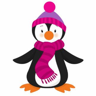 Cute Winter Penguin Christmas Ornament Sculpture