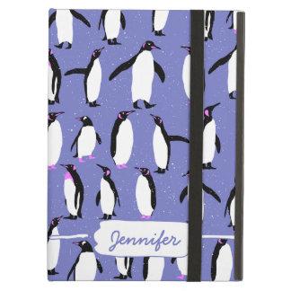 Cute winter penguin pattern iPad air cover