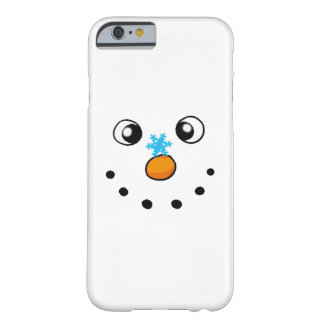 cute winter snowman and snowflake barely there iPhone 6 case