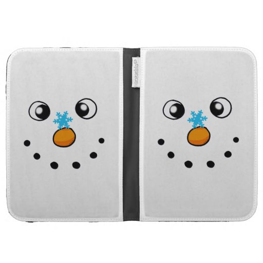 cute winter snowman and snowflake kindle keyboard covers