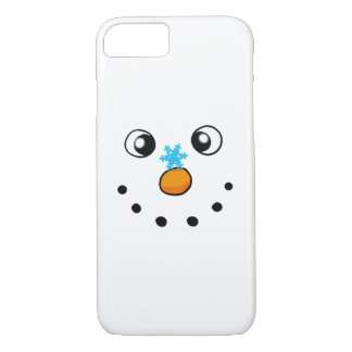 cute winter snowman and snowflake iPhone 7 case
