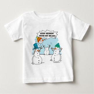 Cute Winter Snowmen Cartoon Baby T-Shirt