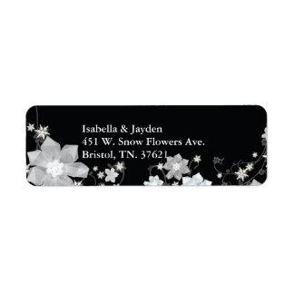 Cute Winter Wedding Return Address Labels