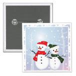 Cute Winter Wonderland  Christmas Snowman Pinback Buttons