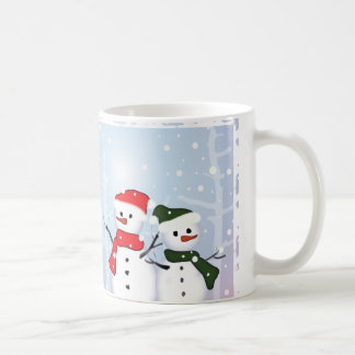 Cute Winter Wonderland Christmas Snowman Coffee Mugs