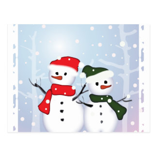 Cute Winter Wonderland  Christmas Snowman Postcards