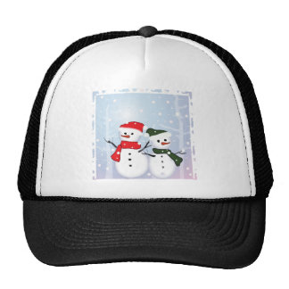 Cute Winter Wonderland  Christmas Snowman Trucker Hat