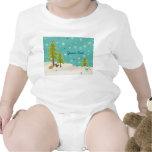Cute Winter Wonderland Woodland Scene personalized Baby Creeper
