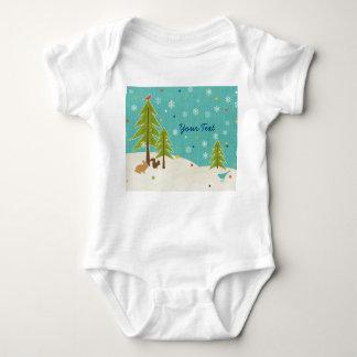 Cute Winter Wonderland Woodland Scene personalized Tshirts