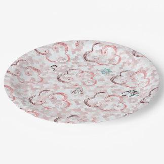 Cute Winter X-mas Pattern C Paper Plate