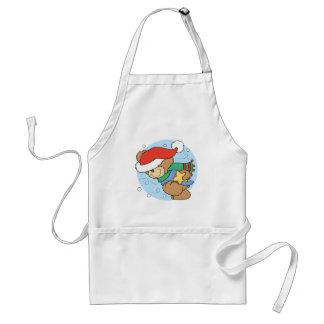 Cute Wintery Christmas Bear Aprons