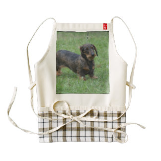 Cute Wire Haired Dachshund Zazzle HEART Apron