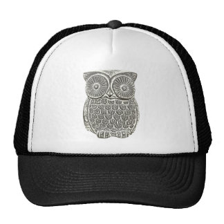 Cute wise grey owl hat