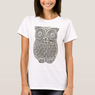 Cute wise grey owl t-shirt