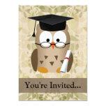 Cute Wise Owl Graduate 5x7 Paper Invitation Card