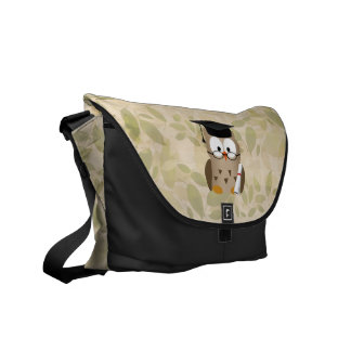Cute Wise Owl Graduate Courier Bag