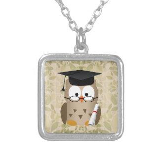 Cute Wise Owl Graduate Custom Necklace