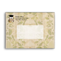 Cute Wise Owl Graduate Envelope