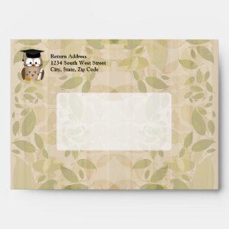 Cute Wise Owl Graduate Envelope