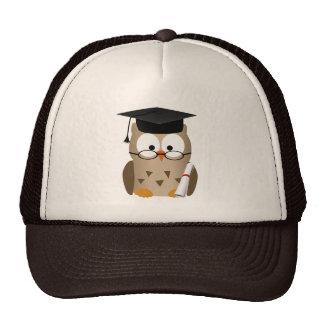 Cute Wise Owl Graduate Trucker Hats