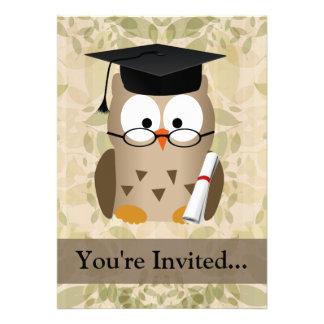 Cute Wise Owl Graduate Custom Announcement