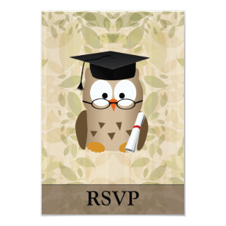 Cute Wise Owl Graduate Custom Invite
