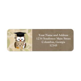 Cute Wise Owl Graduate Label
