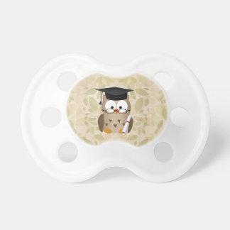 Cute Wise Owl Graduate Pacifier