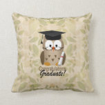 Cute Wise Owl Graduate Pillow
