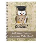 Cute Wise Owl Graduate Spiral Note Book