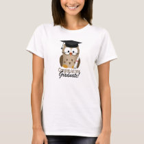 Cute Wise Owl Graduate T-Shirt
