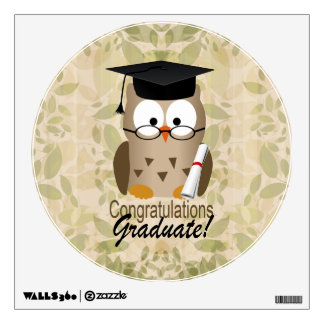 Cute Wise Owl Graduate Wall Sticker