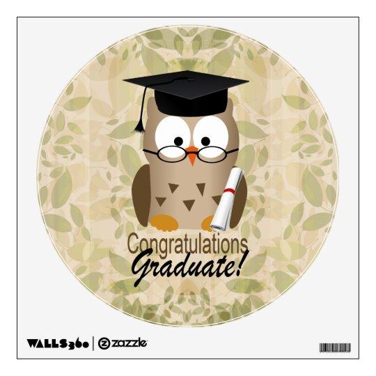 Cute Wise Owl Graduate Wall Sticker