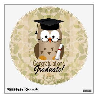 Cute Wise Owl Graduate Wall Skin