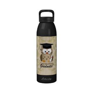 Cute Wise Owl Graduate Water Bottle