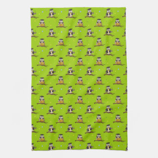 Cute Wise Owls with Glasses Pattern Towel