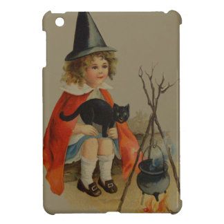 Cute Witch Black Cat Cauldron Fire Cover For The iPad Mini