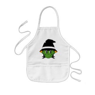 Cute Witch Halloween Apron