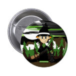 Cute Witch Halloween Badge Pins