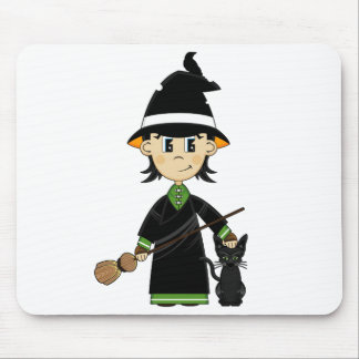 Cute Witch Halloween Mousepad