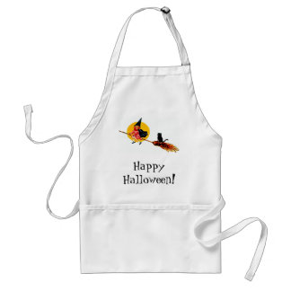 Cute Witch on Broom Adult Apron