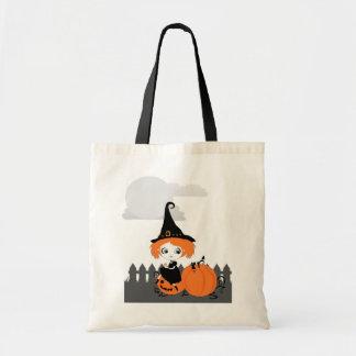 Cute Witch Orange Pumpkin bag