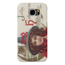 Cute Witch Owl Crescent Moon Pumpkin Samsung Galaxy S6 Case