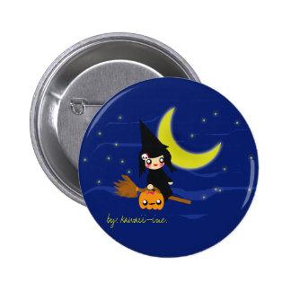 Cute witch! pinback button